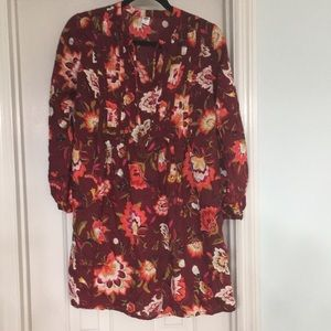 Old Navy size small floral tunic dress